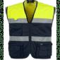 Colete Azul Mar/Amarelo Fluorescente WTC4010